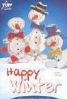 Happy Winter: Wunderschön als Advents- und Christbaumschmuck, als Geschenkanhänger oder als Winterdekoration