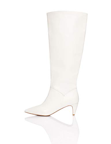 FIND Boot Botas Slouch, Blanco White, 41 EU