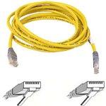 Belkin CAT5e Crossover Kabel, 6m UTP RJ45 knickschutz grau/gelb -