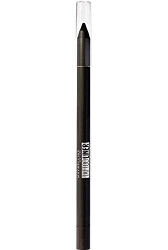 Maybelline Lápiz de Ojos semi- permanente Tattoo Liner 900 Deep Onyx negro,  1.3gr