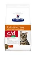 Hill's Prescription Diet Feline C/D Santé Urinaires Nourriture pour Chat Croquettes Calories réduites 8kg Poulet