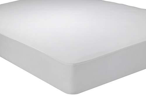 Pikolin Home Protector de colchón Punto antialérgico, Transpirable, 200 x 200 cm, Color Blanco, 200 x 200
