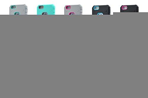 iPhone 6S Plus-Fall, iPhone 6 Plus-Kasten, Lantier Cool-Serie Hybrid Dual Layer Soft-Gummi-Außentasche mit harter PC Inner Rüstung Defender Case Cover für Apple iPhone 6 / 6S Plus-Fall-Schwarz + Schwa Gray+Hot Pink