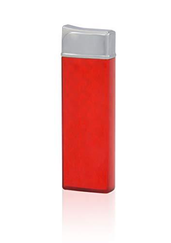 TESLA Lighter T12 Lichtbogen Feuerzeug, Plasma Single-Arc, elektronisch wiederaufladbar, aufladbar mit Strom per USB, ohne Gas und Benzin, mit Ladekabel, Rot