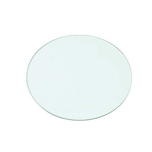 Rapid Teck®Glasplatte Rund Durchm. 700 mm Glastisch Tischplatte aus gehärtetem Glas Tisch Glasscheibe 8mm Dick -