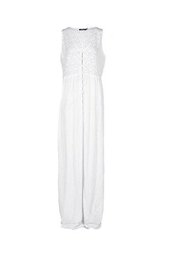 blanc Femmes Lolita Robe Maxi Couvre-tout Boutonnée En Dentelle Blanc