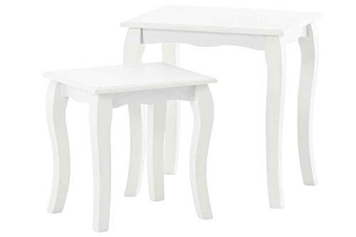 CLASSICO tavolo da pranzo Shabby Chic bianco quadrato ...
