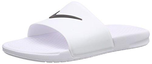 Nike Herren Benassi Shower Slide Dusch-& Badeschuhe, Weiß (White/Black 100), 48.5 EU