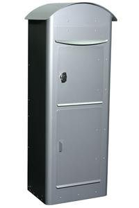 SafePost 80 mit Paketfach, silbergrau - (SP80 (RAL9006))