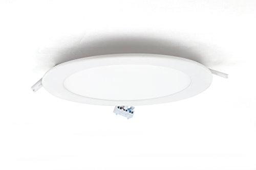 12w Einbauleuchte Gehäuse (230V LED Einbaupanel - Ausschnitt 150-160mm - Gehäuse weiß - 12 Watt - neutralweiß - 230V Phase dimmbar)