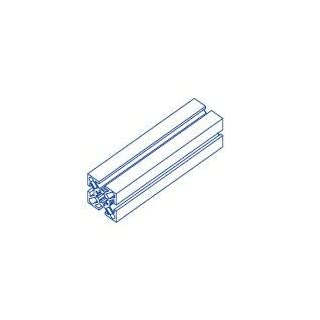 Alu-Profil 40x40 Nut 8 System S120 150 Aluminium-Konstruktion-Profile Strebenprofil Stangen Systemprofil Profile vom Profi (3000, Alu Silber)