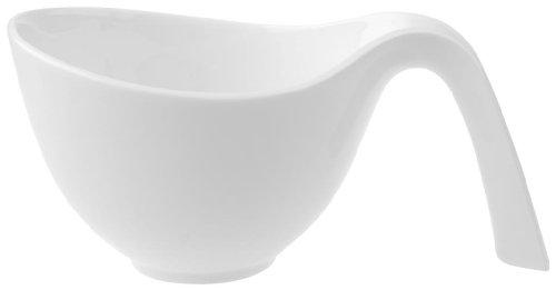 (Villeroy & Boch Flow Cup mit Griff, Premium Porzellan, Weiß)