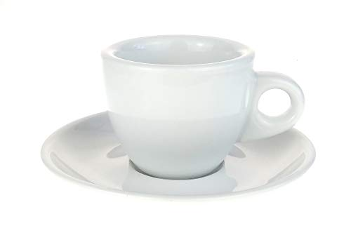 Dickwandige Espressotassen (0,8 cm Tassenwand) »Portofino« von Nuova Point / (6 Tassen & Untertassen)