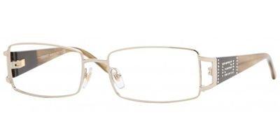 Versace Women's 1163b Light Gold / Light Tortoise Frame Metal Eyeglasses, 52mm