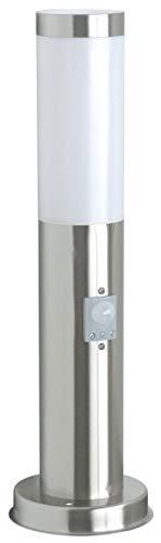 Éclairage de jardin Smartwares RX1010-45S – Acier inoxydable – Détecteur de mouvement – Raccord E27 – 45 cm