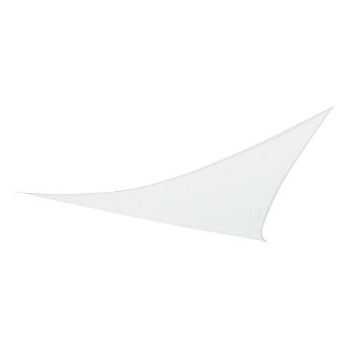 Aktive Toldo vela triangular para jardín, poliéster, 360 x 360 x 360 cm, color blanco 53904