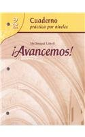 ?Avancemos!: Cuaderno: Practica Por Niveles (Student Workbook) with Review Bookmarks Level 2 par McDougal Littel
