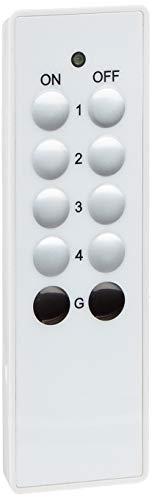 Hama Funkfernbedienung für Hama-Funksteckdosen (30 m Reichweite, 3 Kanäle, All-ON-/OFF-Taste) weiß -