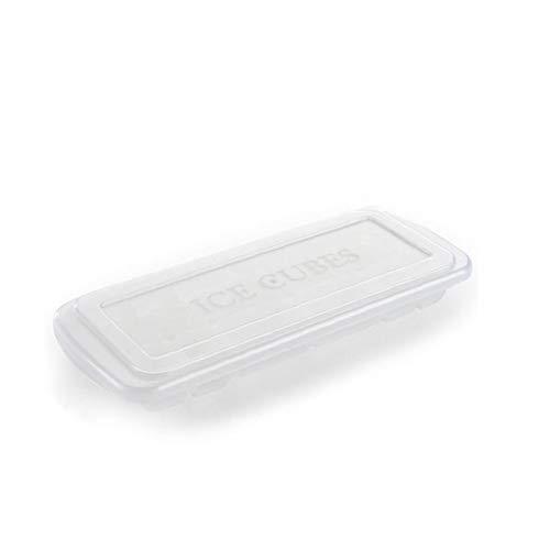 veklblan 1Pcs Multifunktions-Eiswürfel, Stapelbare EIS-Behälter DIY Geteilt Schokoladen-Form Dessert Bakeware Silikon-Backen-Form Mit Deckel Weiß -