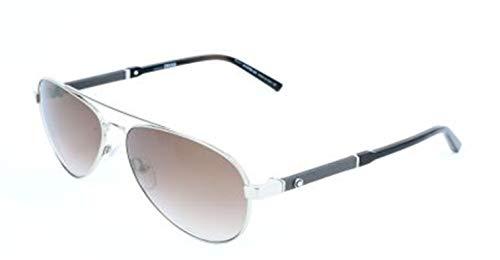 Montblanc Herren Mont Blanc Sunglasses Mb645S 16F-59-14-140 Sonnenbrille, Silber, 59