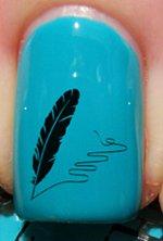 Plume - Stickers pour ongles de YRNAILS