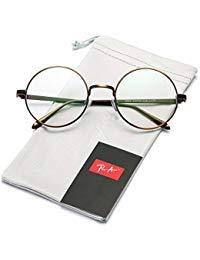 Pro Acme unisex retro-runde metallrahmen klare linse gläser non-rezept Bronze Rahmen/Clear Linse Large