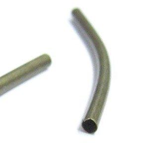 30Stück 3x 30mm Bronze vergoldet Metall Gebogenes Rohr Perlen–A6592/30PCS