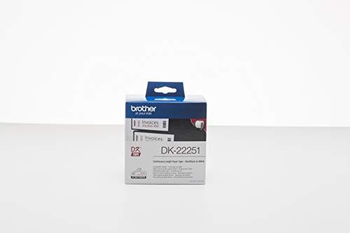 bstklebende Endlosetiketten (62 mm x 15,24 m, geeignet für QL-800, QL-810W, QL-820NWB) rot/schwarz auf weiß (Papier) ()
