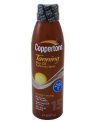 Coppertone SPF#15 Tanning Dry Oil Sunscreen Spray 175 ml by Coppertone -