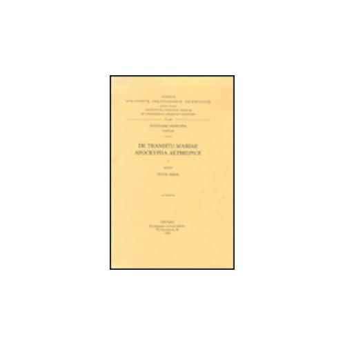 De Transitu Mariae Apocrypha Aethiopice, I. Aeth. 66.