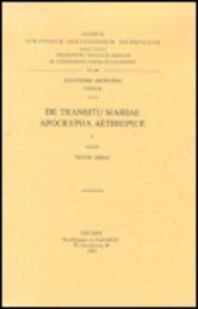 De Transitu Mariae Apocrypha Aethiopice, I. Aeth. 66. par V Arras