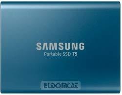 Portable 250 Gb Festplatte (Samsung Portable SSD T5 250 GB USB 3.1 bis zu 540 MB/s, ocean blue (inkl. USB Kabel Typ C auf C und Typ C auf A))