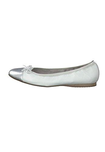 Tamaris Trend Ballerina nero grigio 1-22100-26 011 Black Metallic White Silver