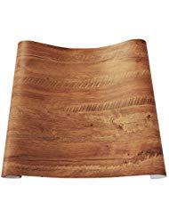 Decorativa sintética grano de madera papel de contacto vinilo autoadhesivo para maletero...