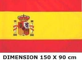 Planete Supporter - Bandera de España (150 x 90 cm, poliéster)