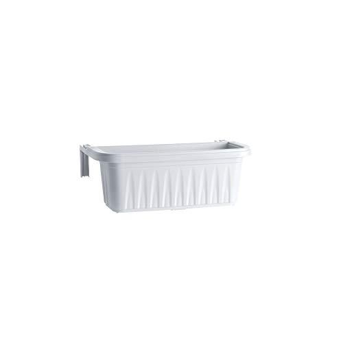 Bama balconetta rectangulaire 'Hirondelle' cm 50 x 20 x H.18,5 - lt. 11 Blanc