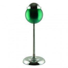 Cendrier vert boule corbeille 15cm pied réglable 60cm telescopique
