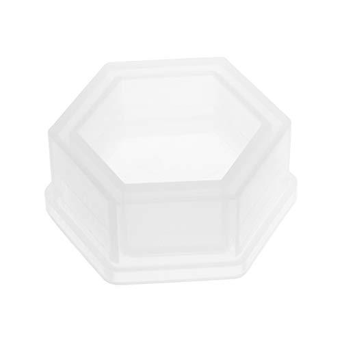 Xuniu DIY Silikon Hexagon Blumentopf Formen Für Garten Pflanzer Zement Beton Vase Seifenformen 80x35mm