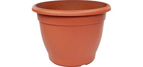 Mabax Pflanzkübel Alice - Blumentopf - Blumenkübel rund - Übertopf UV-beständiger Kunststoff - Pflanztopf frostsicher - Pflanzgefäß mit Bodenlöchern - Pflanzen-Zubehör (40 cm, Terracotta)
