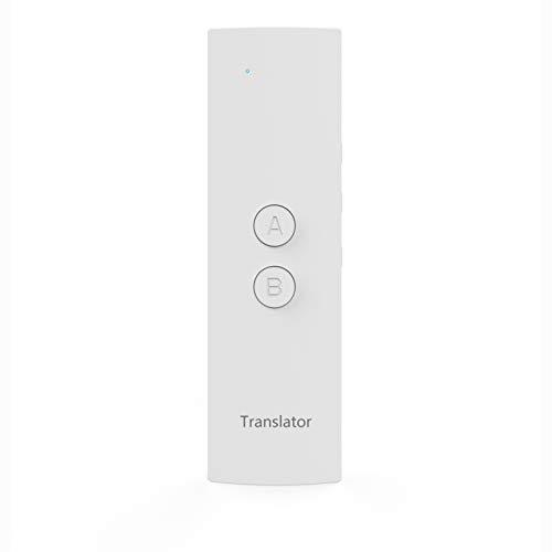 Übersetzer Elektronisch, 28 Sprachen Tragbar Echtzeit Zwei-Wege Sprachübersetzer, Perfekt für Reisen Business Lernen (Weiß)