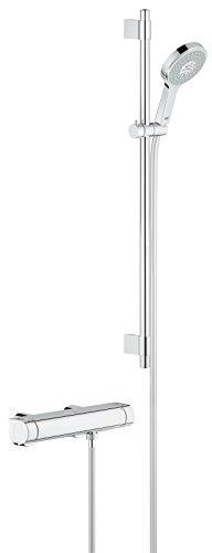 Revitalisierende Waschen (GROHE Grohtherm 2000 | Brause- und Duschsysteme - BRAUSETHERMOSTAT | mit Brausegarnitur, variable Bohrlöcher zur Befestigung | 34482001)