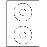 200 CD-ETIKETTEN 117 MM WEISS KOMPATIBEL ZWECKFORM L6043-100