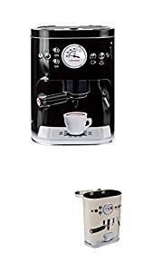 Vorratsdosen Kaffeedose geprägte Blechdose im Espressomaschinen Design 2200 ml Schwarz