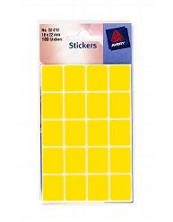 Avery 32-212 fluorescente de amarillo lote de etiquetas para direcciones 18 x 22 mm