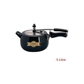 607e9eb70 United Elite Pressure Cooker With Inner Lid 5000 ml Aluminium Black Color