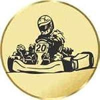 S.B.J - Sportland Pokal/Medaille Emblem, Motiv Kart, Durchmesser 50 mm Durchmesser