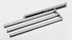Ausziehbar, eloxiertes Aluminium, 3 Stangen Handtuchhalter