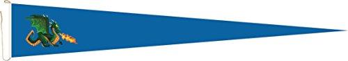 U24 Long Fanion Feu spucke thermique Dragon Bleu Drapeau fanion 250 x 40 cm haute qualité pour