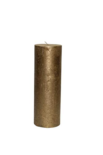 Nein Kerze Gold Metallic Stumpenkerze