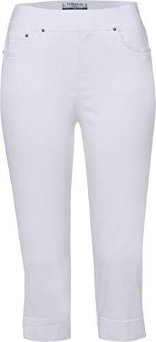 Raphaela by Brax Style Pamona White 44K - Schlanker Farbe Denim Capri